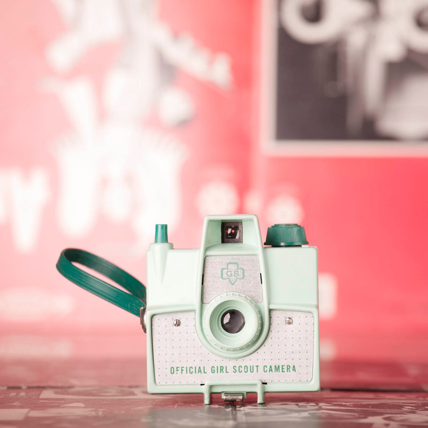 Official Girl Scouts of America Camera - Mint Green- Brownie Scouts - 1950s - Rare - AnElephantsEye