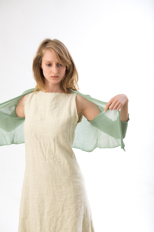 Transparent Cardigan ,summer mint Jacket - Toosha