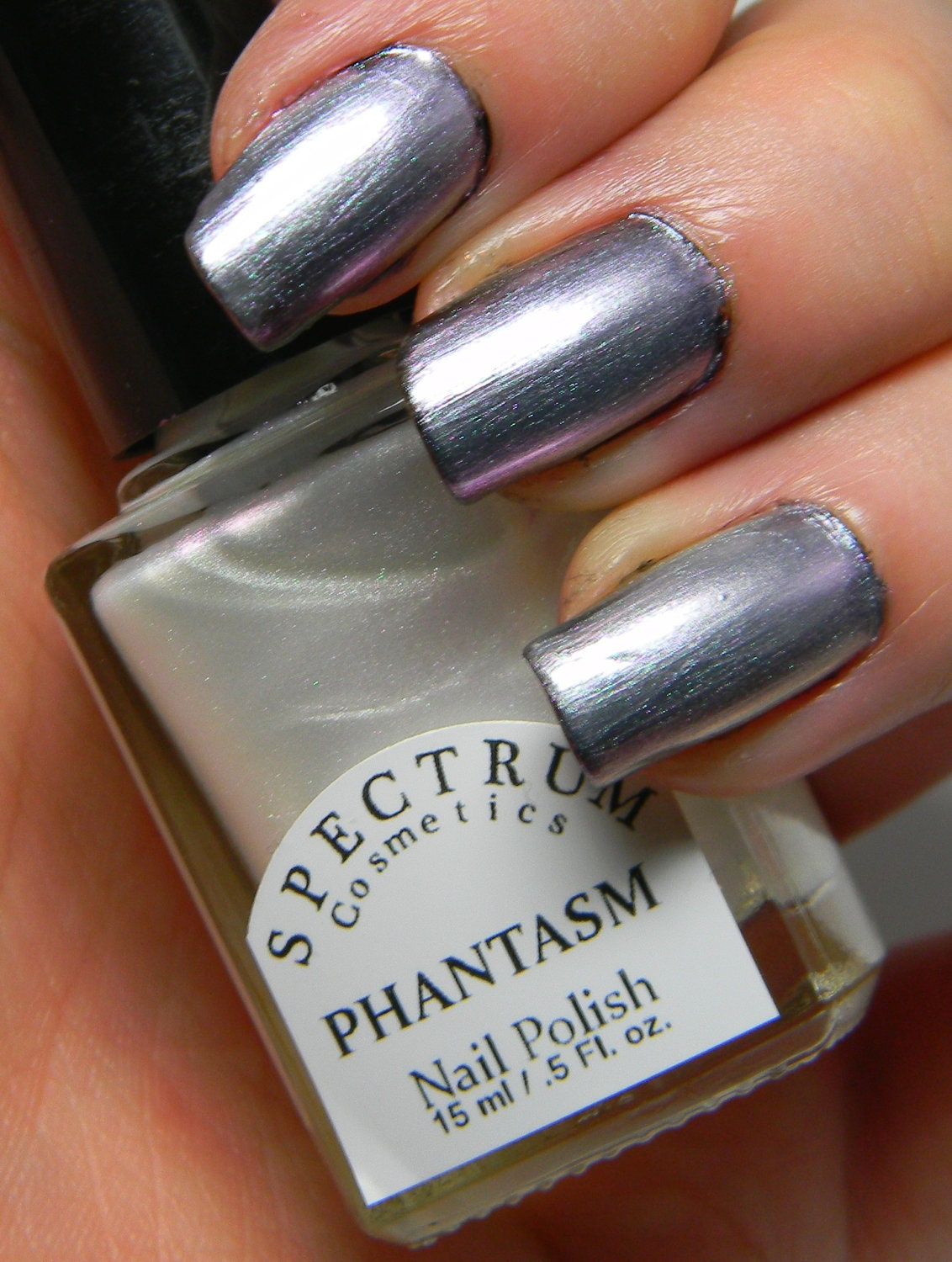 Silver Purple Duochrome Nail Polish Top Coat PHANTASM