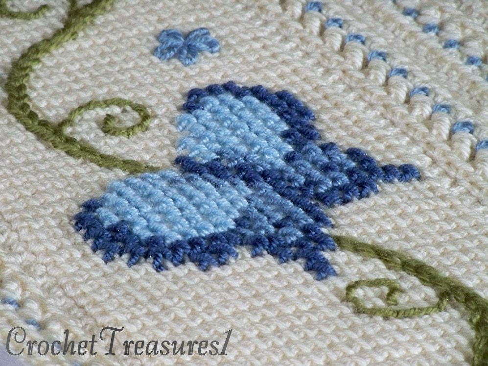 【转载】钩针编织毛毯