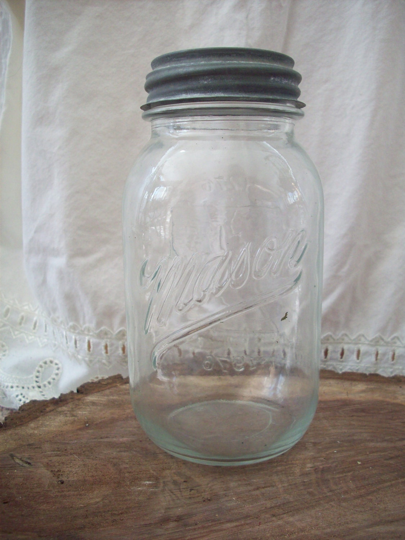vintage mason jar quart size by inspiredtreasurenest on etsy. Black Bedroom Furniture Sets. Home Design Ideas
