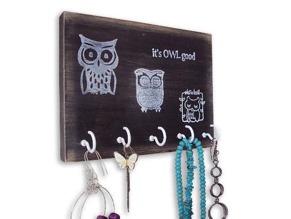 owl jewelry hanger