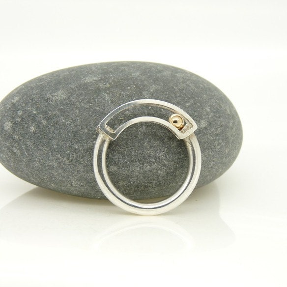 items similar to rolling kinetic ring in sterling silver