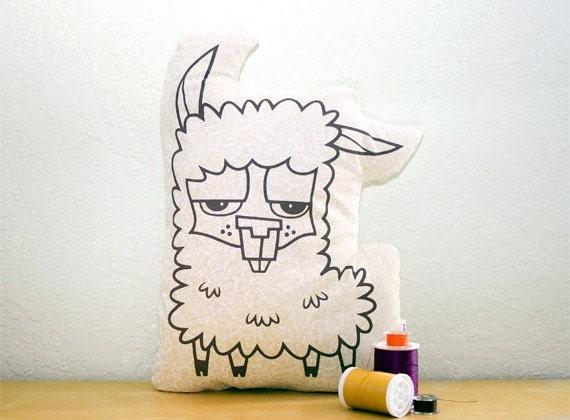 Llarry - Decorative Plush Llama Pillow