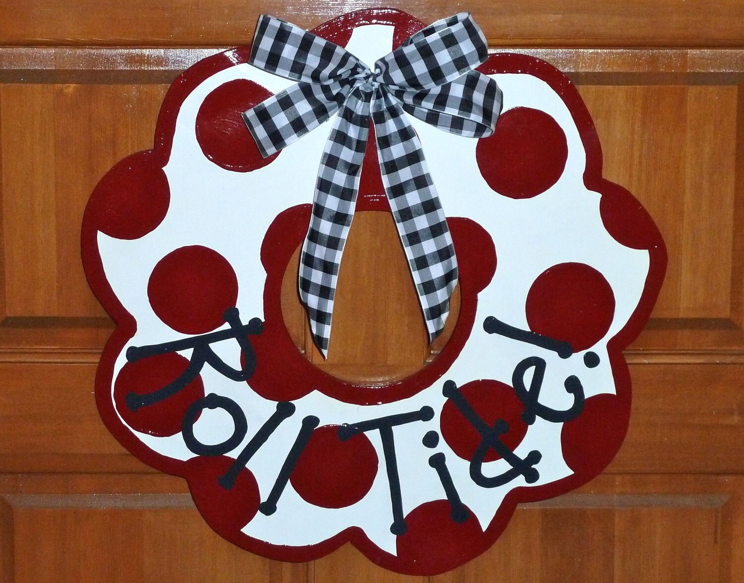 Alabama Crimson Tide Wooden Door Wreath or Wall Decor