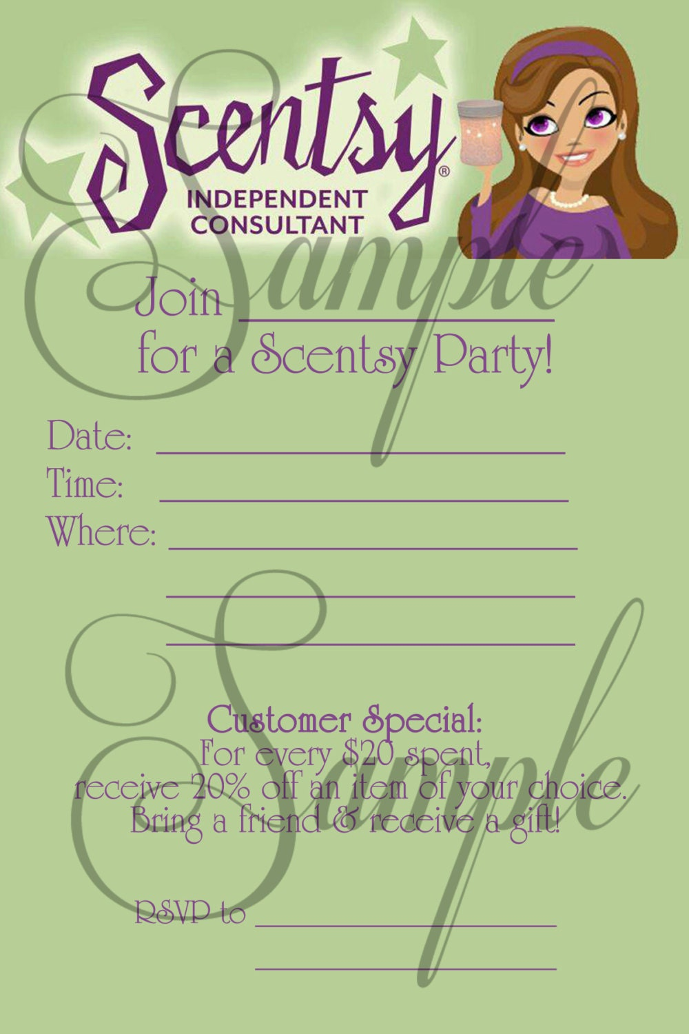 Scentsy Party Invitation – Scentsy Party Invitations