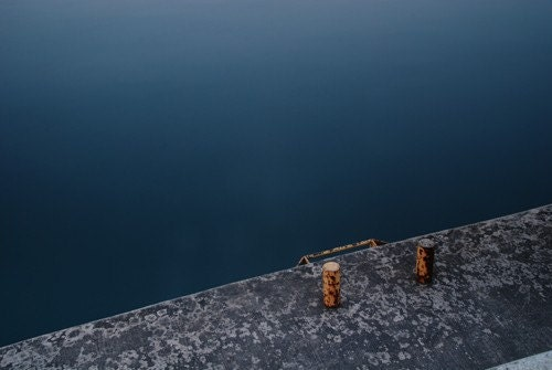 Erieau 04 - 5x7 fine art print - minimal peaceful blue lake photograph - fiveonenine