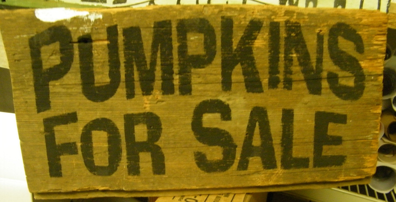 PUMPKINS FOR SALE old wood sign