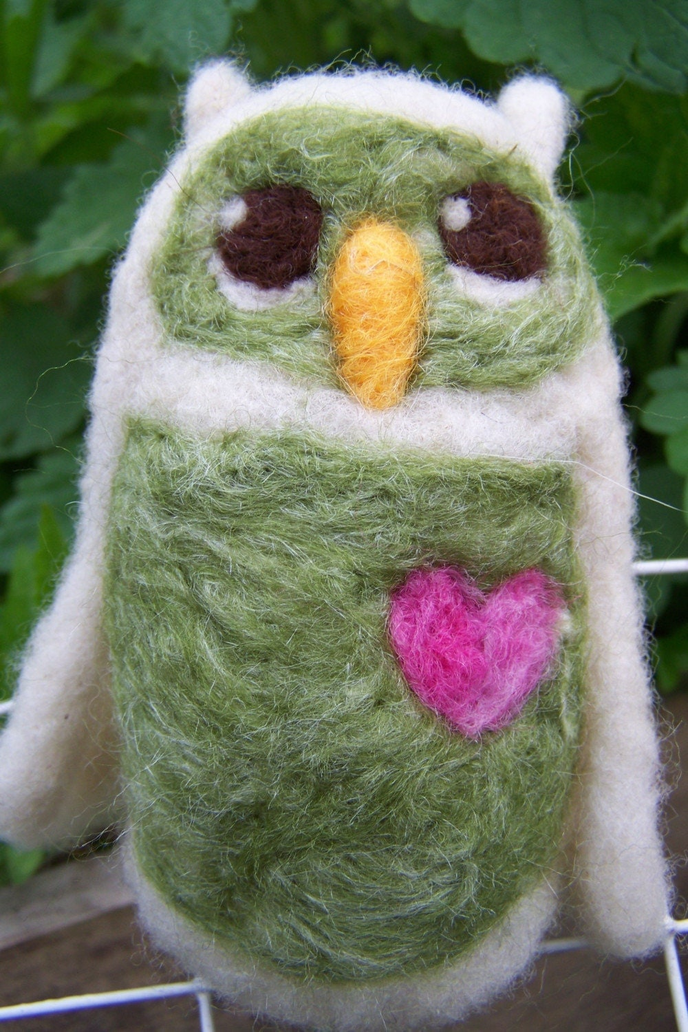 Little Hoot No.36- needle felted owlette