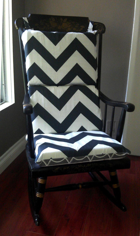 Eames Lounge Chair Cushions Rocking Chair Cushion Chevron Dwell Studio by RockinCushions