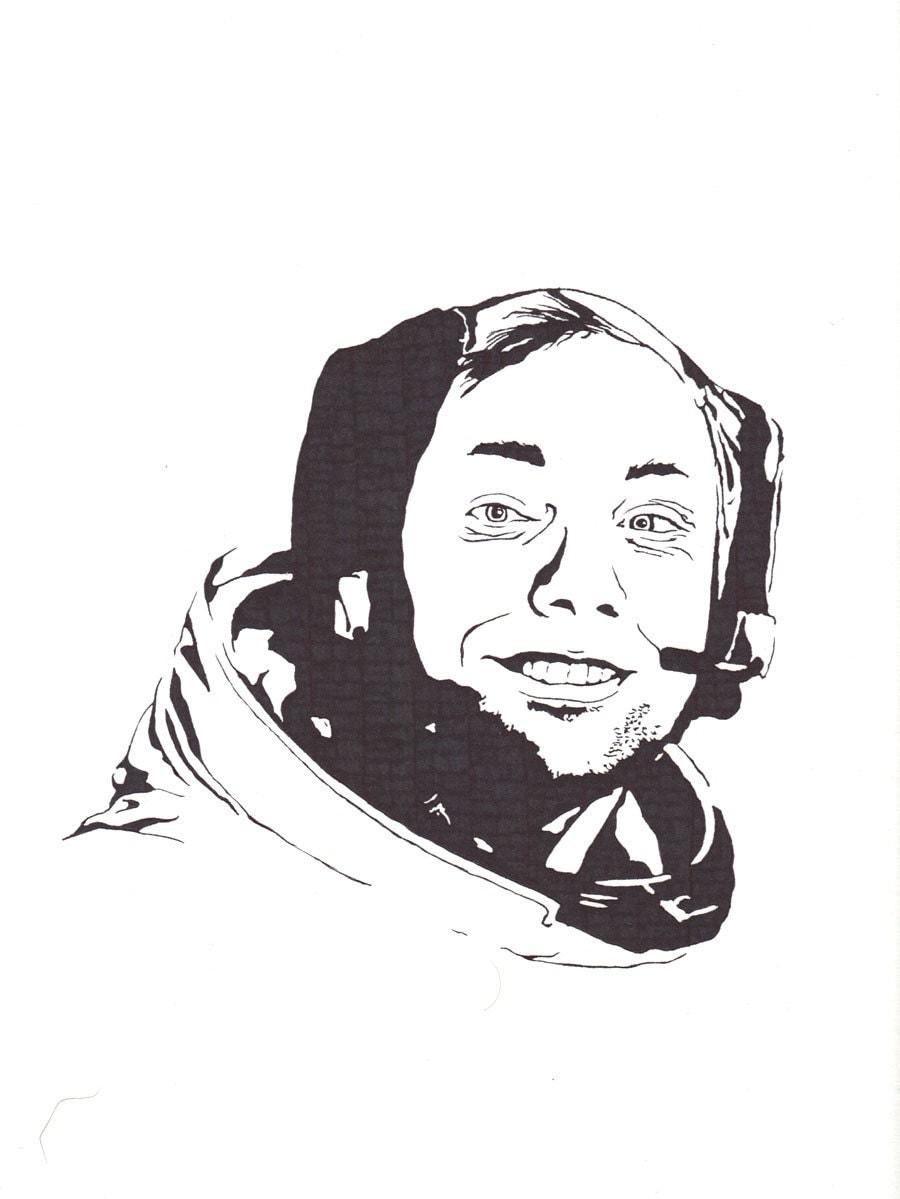 Neil Armstrong - American Icon - Original Illustration - Kelmosa