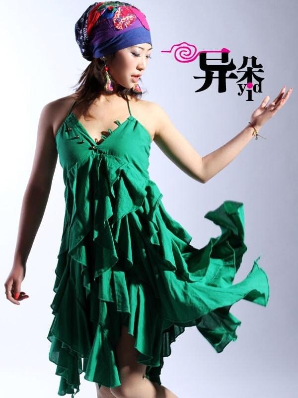 لوتوس سبز لباس شب و دامن