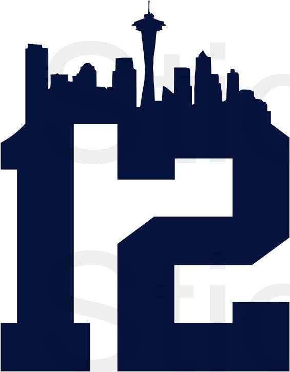BOGO FREE 12th Man NFL Seattle Seahawks Vinyl Decal by ...
