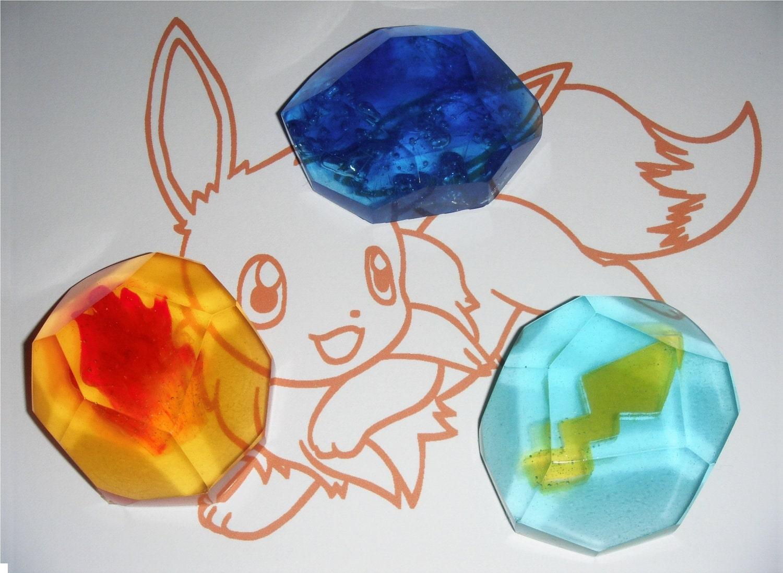 Eevee Evolution Stone Set - PokemonEevee Evolutions Stones