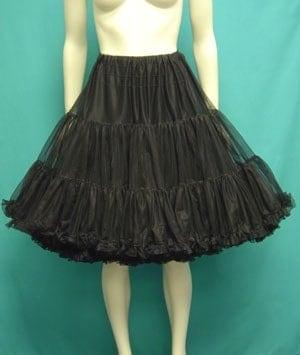 Vintage Black Nylon Petticoat Crinoline