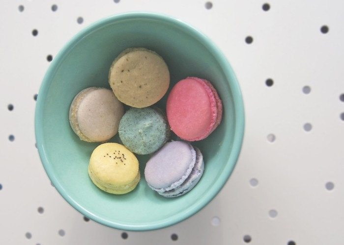 bowl of macarons . . . 5x7 fine art photography print