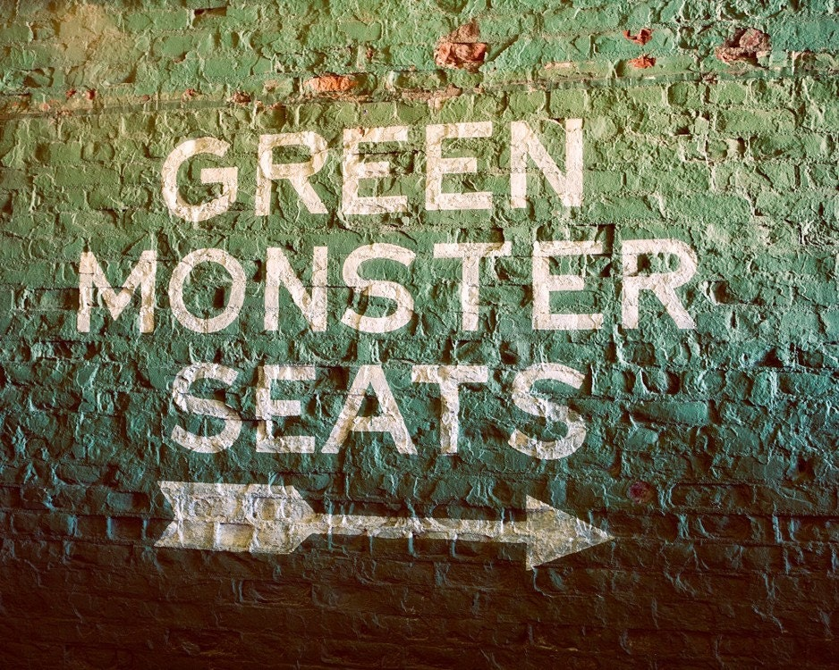 Fenway Park Green Monster Seats Boston Red Sox Inspired