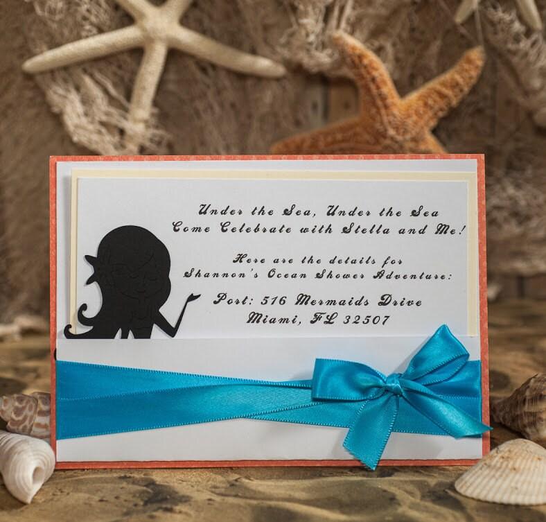 mermaid baby shower invitation by embellishedpaper on etsy