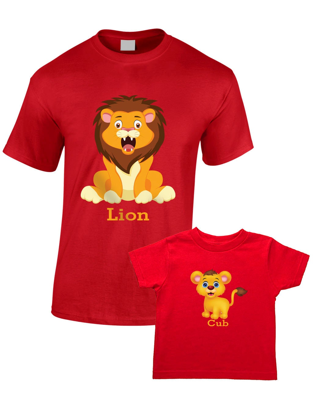 Lion And Cub TShirts  Matching Father Child Gift Set  Fathers Day Present Mum Son Daughter Dad