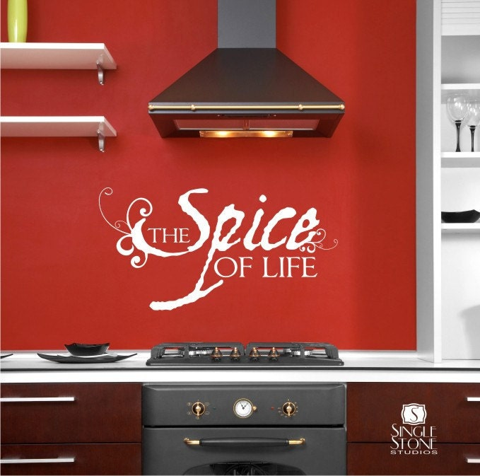 Wall decal quote spice of life vinyl text wall words stickers art