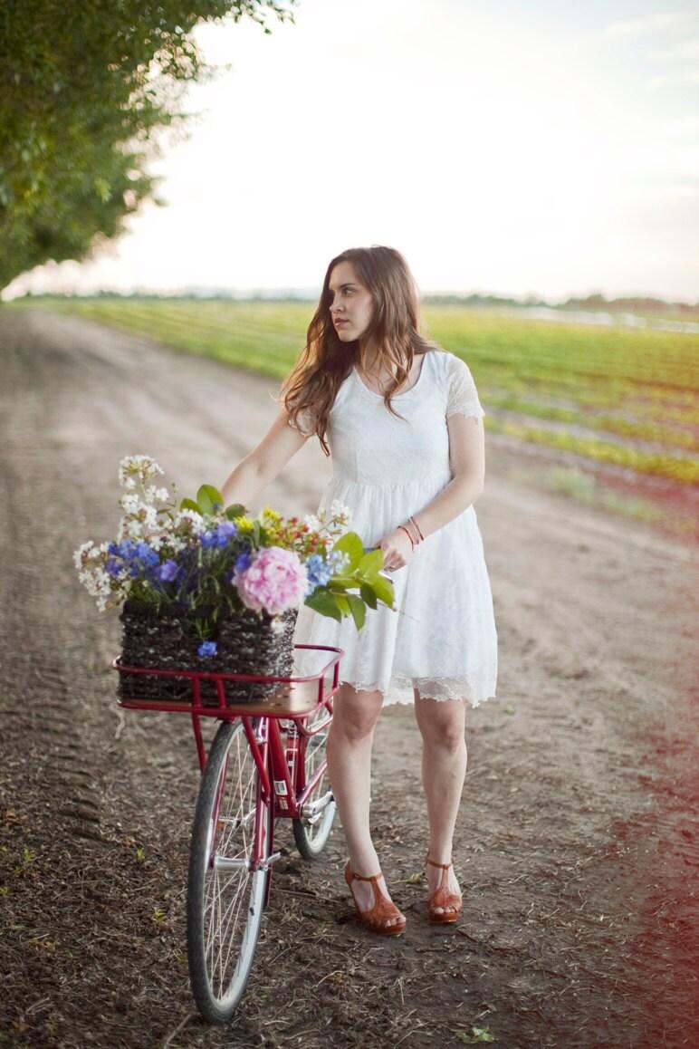 White Lace Dress, Wedding Dress, Summer Dress - TeakaMarie
