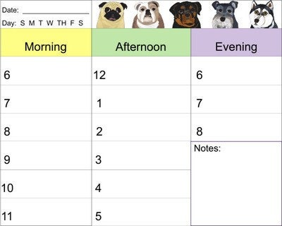 Dog Art Daily Planner Print It Yourself PDF Document by pugnotes