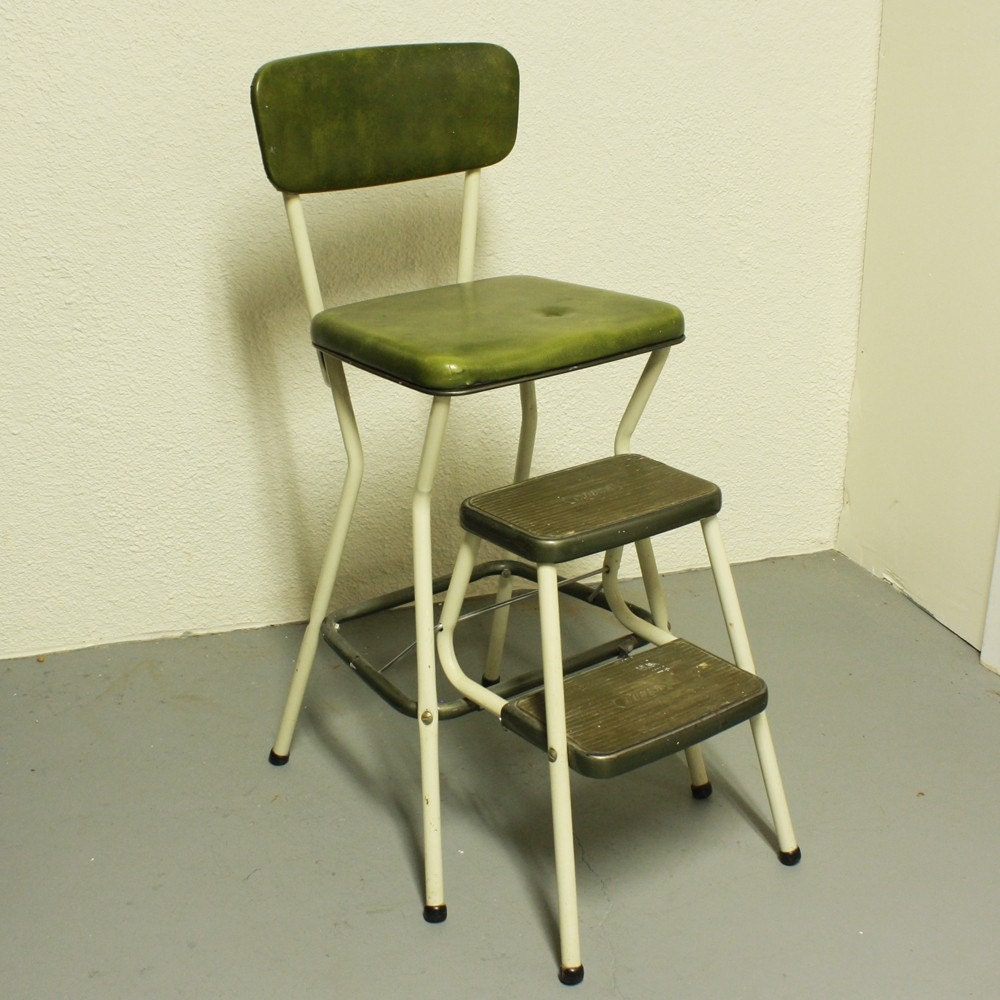 Vintage Cosco Stool Step Stool Kitchen Stool By Oldcottonwood