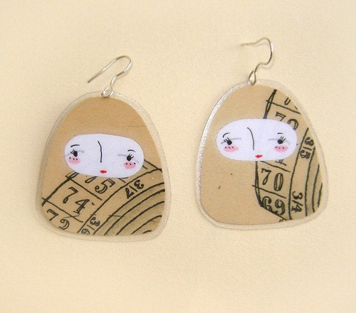 matroyshka earrings