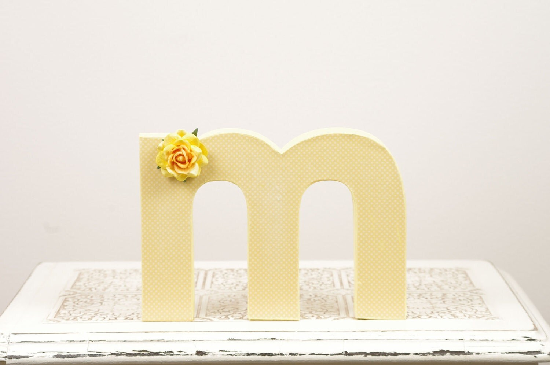 Cake Decor Letters : Letter M Monogram Cake Topper Table Decor by ...