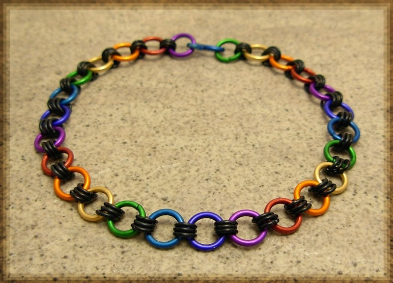 Etsy - Rainbow Chainmaile Bracelet from etsy.com