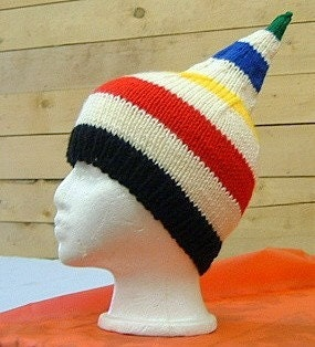 Hudson Bay inspired knit Tuque style Hat Custom Knit