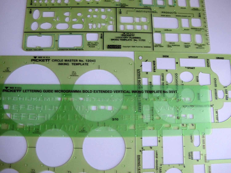 Pickett Berol Rapidesign Green Plastic By Overthetopoverstock