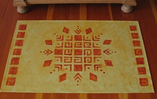 Design Style Guide Colonial Decor Floor Cloths