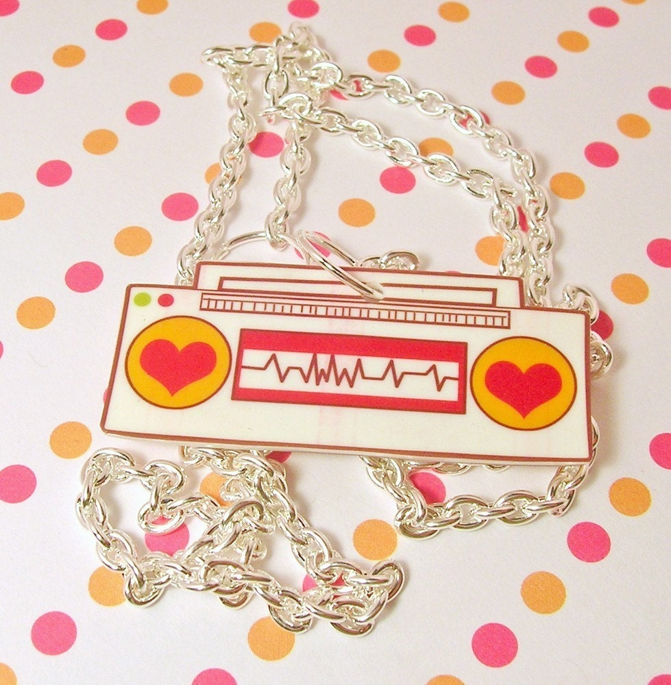 Love Beat Radio Necklace 20 inches