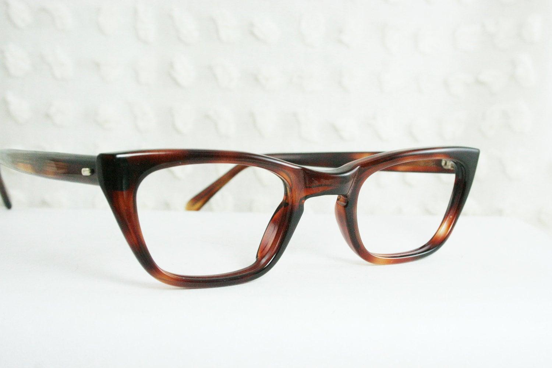 60s cat eye glasses 50s tortoise eyeglasses womens by