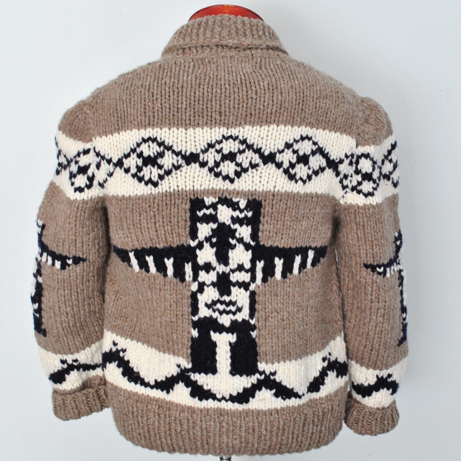 Knitting Websites Canada : Cowichan sweater totem cardigan new hand knit by