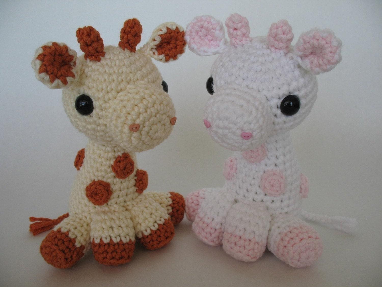 Crocheted Baby Giraffe PDF Pattern