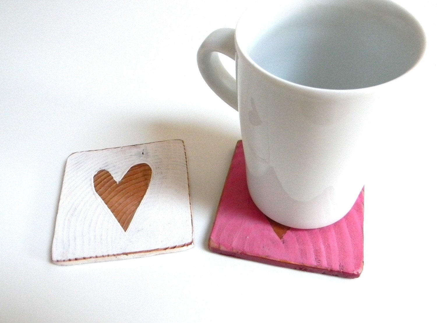 romantic coaster set for two