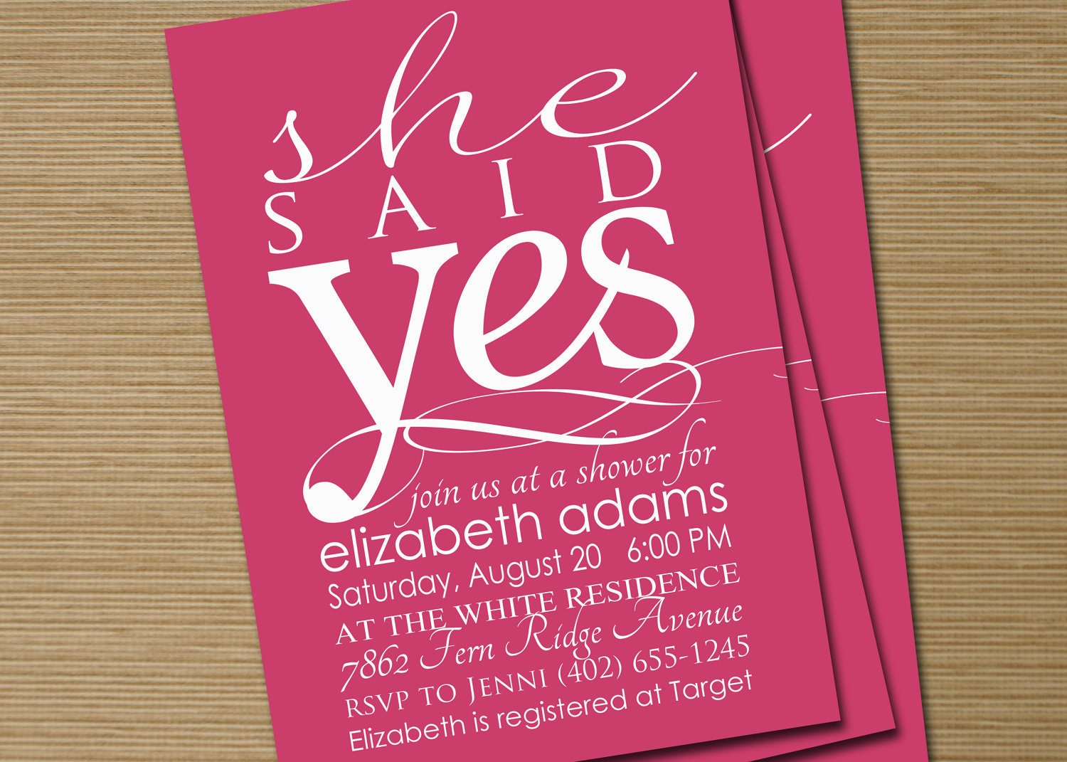 Bridal Shower Invite  Printable She Said Yes By Cardsetcetera