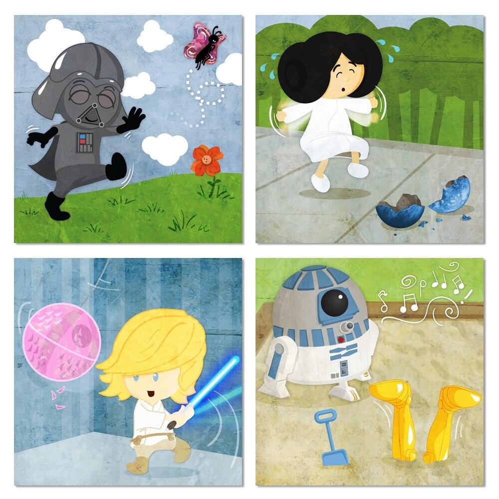 Baby Star Wars - Series of 4 prints
