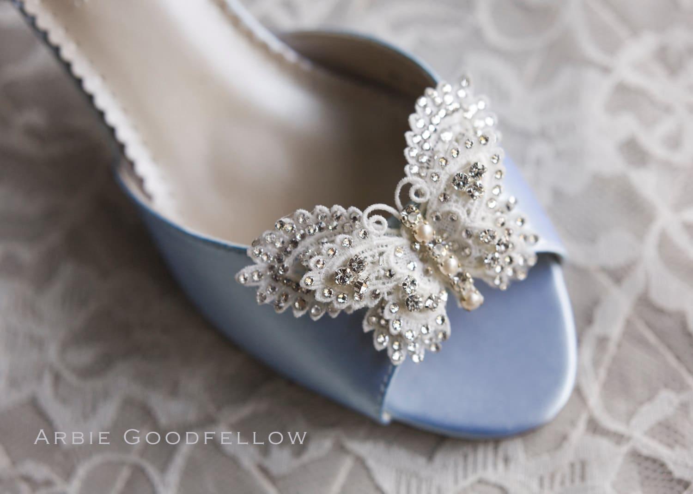 Бабочка Свадебная обувь По Arbie Гудфеллоу - Пользовательские Обувь - Couture Свадебная обувь Parisxox - выбрать из более чем 100 обувные цвета - Ручной бисера