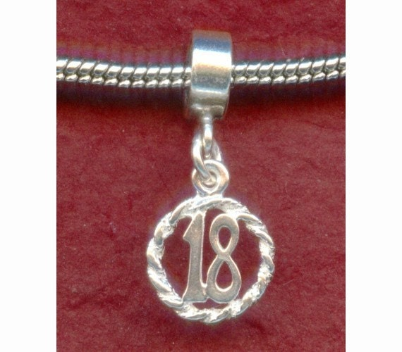 Sterling Silver 18th Birthday Charm Fits Most European By