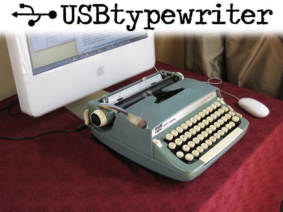 USB Typewriter -- Super Sterling with USB Port