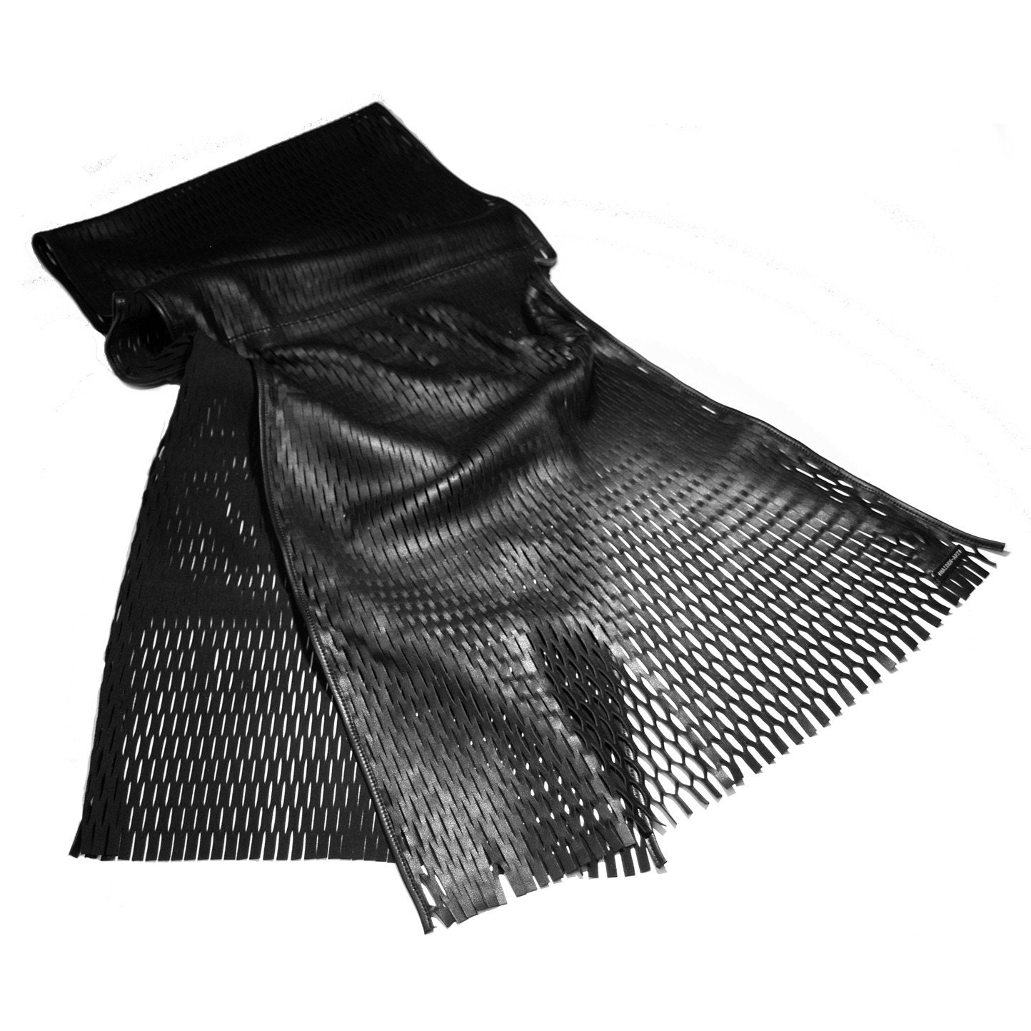 Leather Pleated Scarf by MaidenArt on Etsy from etsy.com