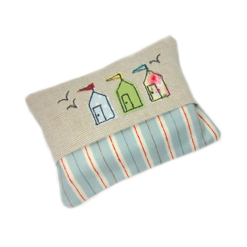 Travel Tissue Case Pocket Tissue Cover  Beach Huts Stocking Stuffer
