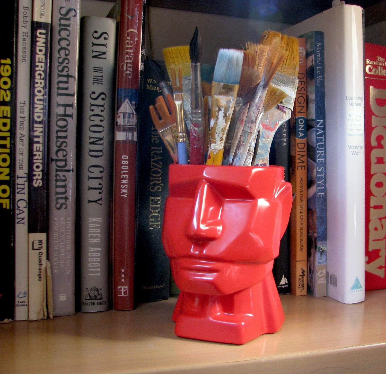 Red Mega Man - Pencil Cup - Desk Accessory