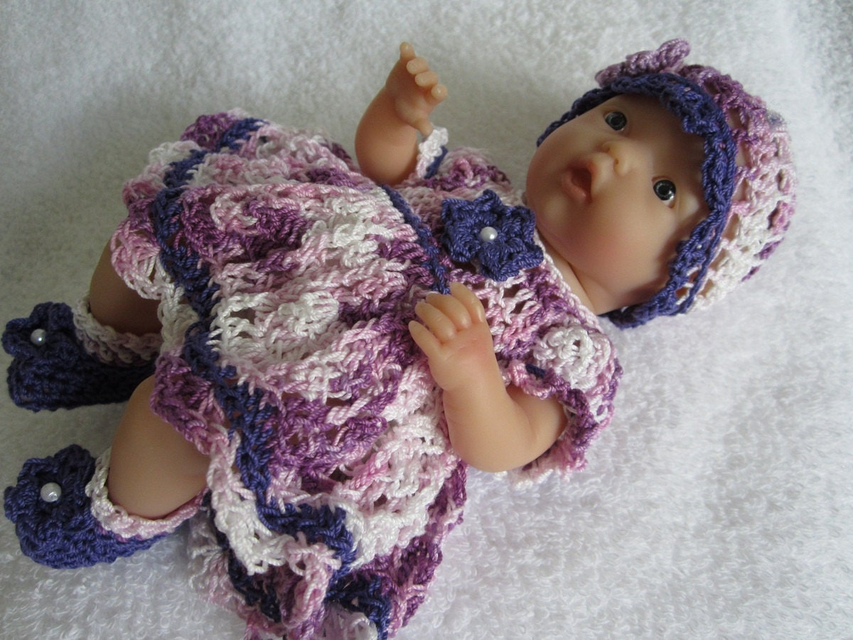 Crochet Mini Doll Clothes : Crochet Doll Clothes Mini LaNewborn Baby Doll Vintage by ...