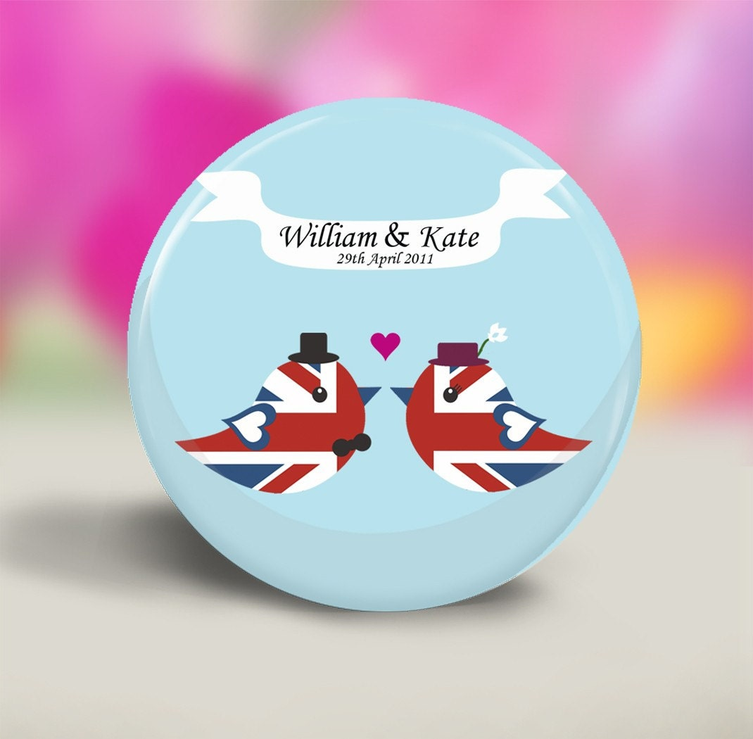 Royal Wedding Commemorative Pocket Mirror - Prince William and Kate Middleton