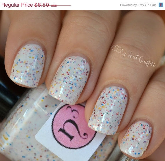 Pink And Blue Nail Polish: Annette On Etsy