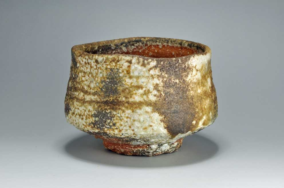 Shigaraki, anagama, ten-day anagama wood firing, with natural ash deposits tea bowl. chawn-25